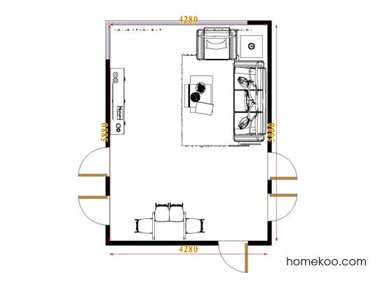 平面布置图斯玛特系列客餐厅G8656
