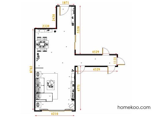 平面布置图德丽卡系列客餐厅G8695