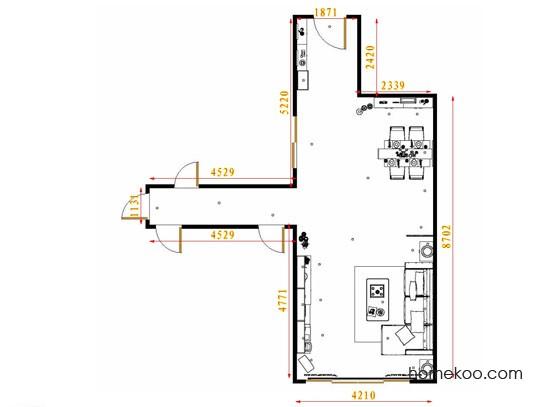 平面布置图德丽卡系列客餐厅G8697