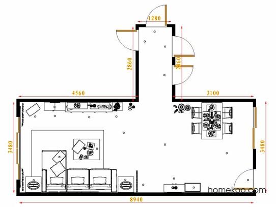 平面布置图柏俪兹系列客餐厅G8719