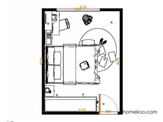 平面布置图乐维斯系列青少年房B9488