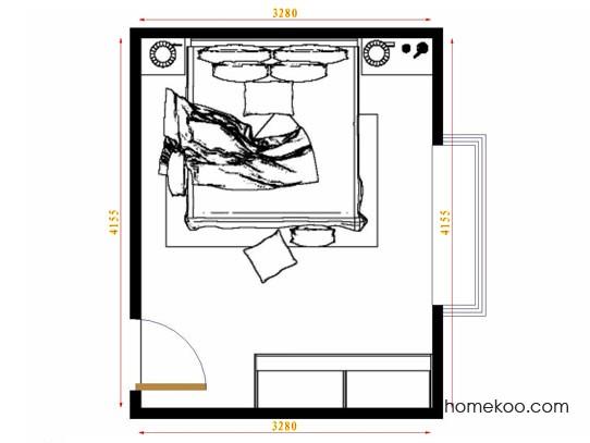 平面布置图斯玛特系列卧房A9691