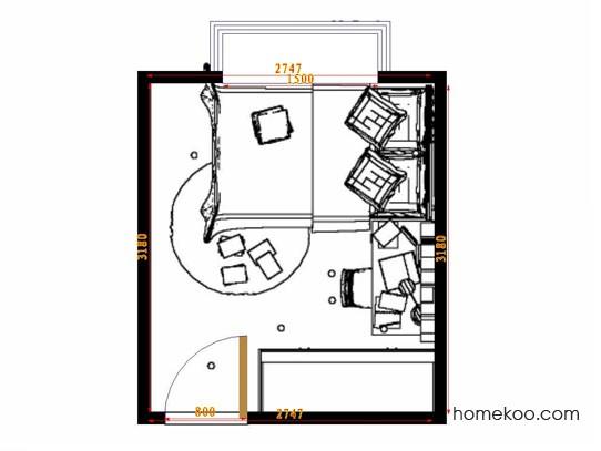 平面布置图贝斯特系列青少年房B9501