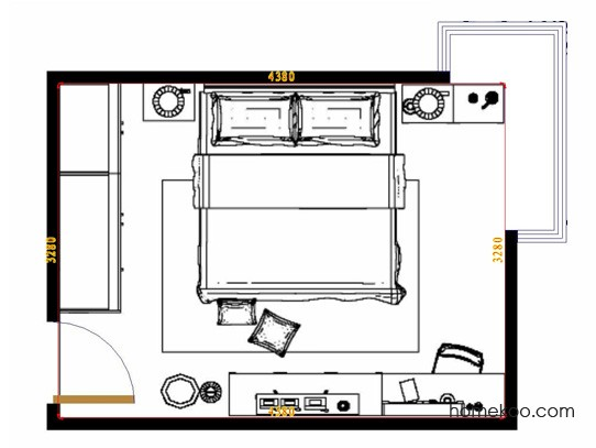 平面布置图柏俪兹系列卧房A9715