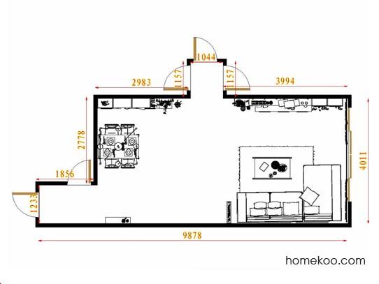 平面布置图斯玛特系列客餐厅G8736