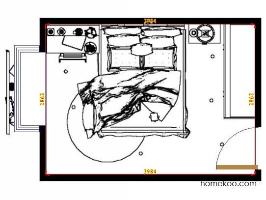 平面布置图德丽卡系列卧房A9723