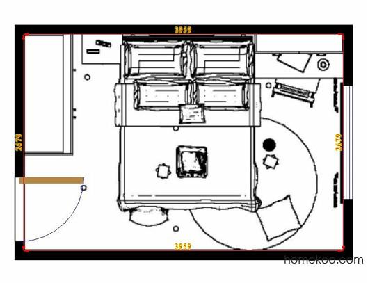 平面布置图格瑞丝系列卧房A9738