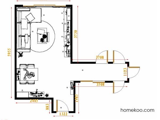 平面布置图斯玛特系列客餐厅G8754