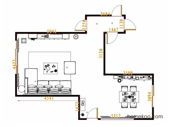 平面布置图乐维斯系列客餐厅G8762