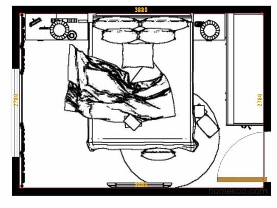 平面布置图贝斯特系列卧房A9745