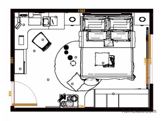 平面布置图德丽卡系列青少年房B9565