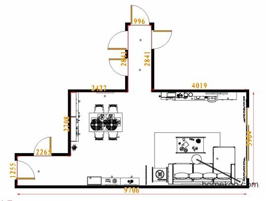 平面布置图贝斯特系列客餐厅G8780