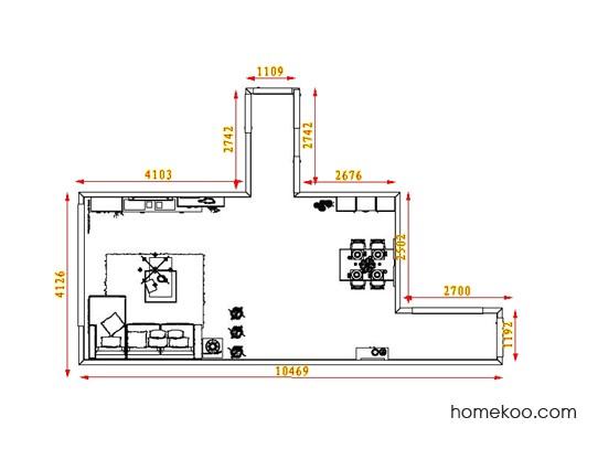 平面布置图乐维斯系列客餐厅G8784