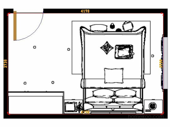平面布置图贝斯特系列卧房A9783