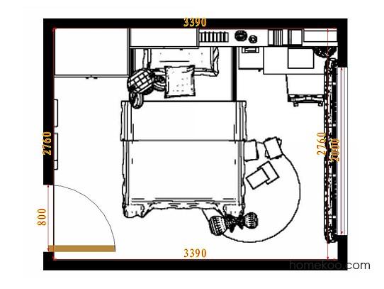 平面布置图乐维斯系列青少年房B9580
