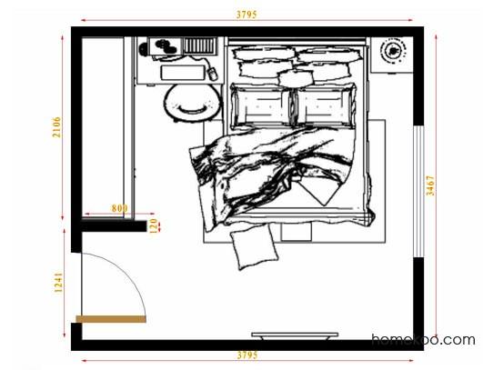 平面布置图柏俪兹系列卧房A9823