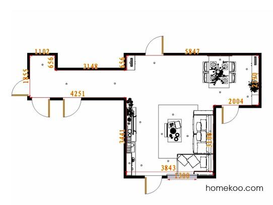平面布置图斯玛特系列客餐厅G8816