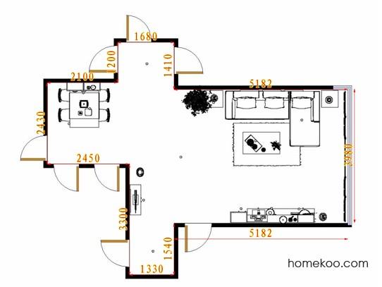 平面布置图格瑞丝系列客餐厅G8831