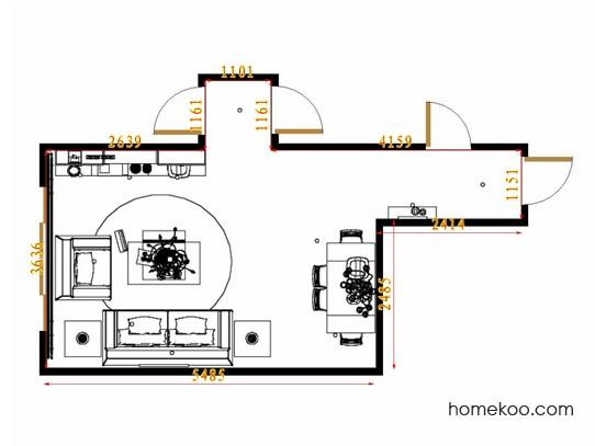 平面布置图柏俪兹系列客餐厅G8833