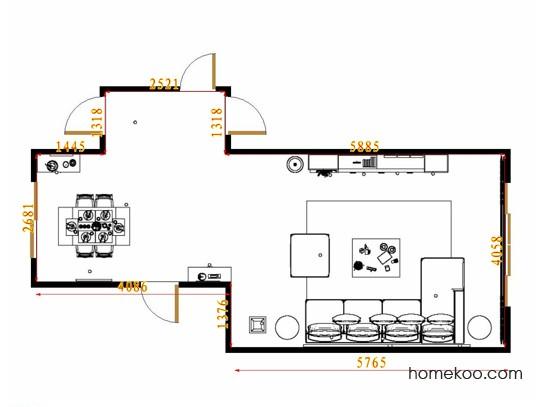 平面布置图乐维斯系列客餐厅G8846