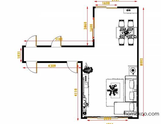 平面布置图贝斯特系列客餐厅G8850
