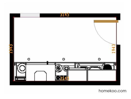 平面布置图斯玛特系列厨房F9930