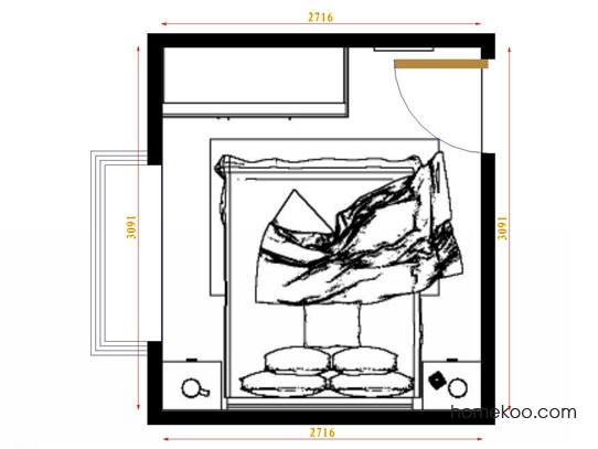 平面布置图乐维斯系列卧房A9874