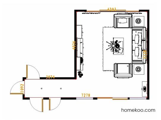 平面布置图柏俪兹系列客餐厅G8893
