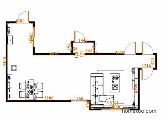 平面布置图格瑞丝系列客餐厅G8896