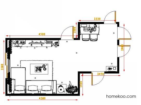 平面布置图斯玛特系列客餐厅G8899