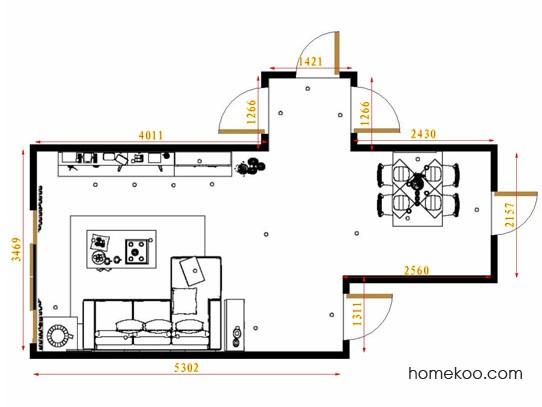 平面布置图斯玛特系列客餐厅G8925