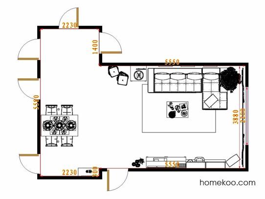 平面布置图贝斯特系列客餐厅G8933