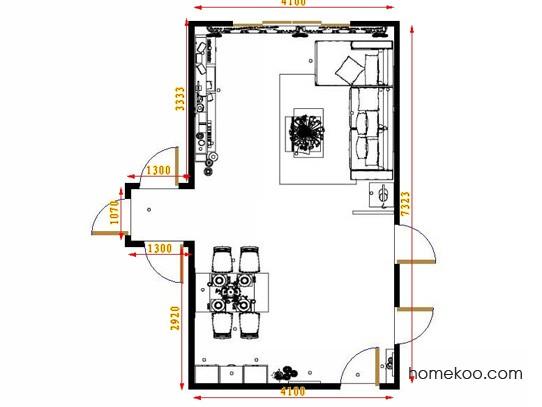 平面布置图贝斯特系列客餐厅G8935
