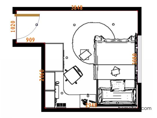 平面布置图格瑞丝系列青少年房B9886