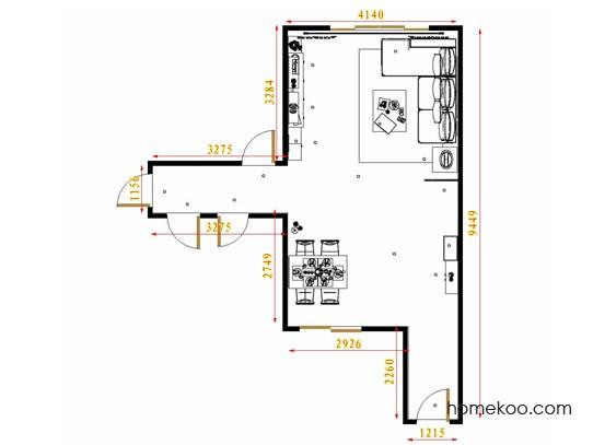 平面布置图贝斯特系列客餐厅G8966