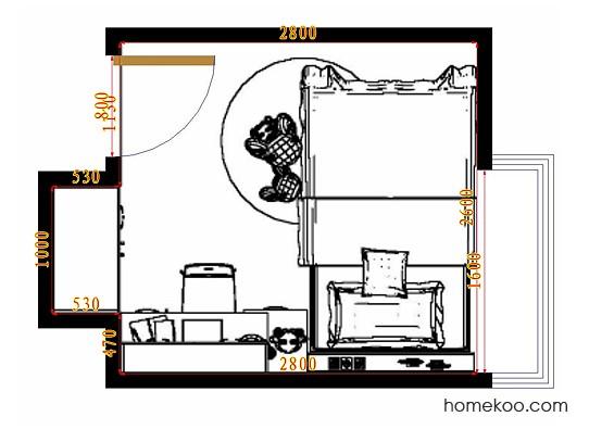 平面布置图格瑞丝系列青少年房B9956