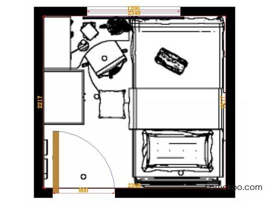 平面布置图格瑞丝系列青少年房B9998
