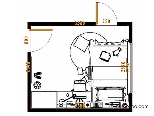 平面布置图贝斯特系列青少年房B10001