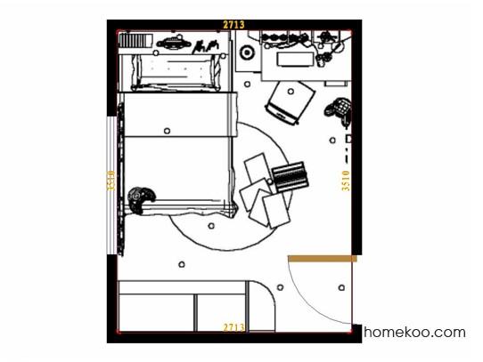 平面布置图斯玛特系列青少年房B10033