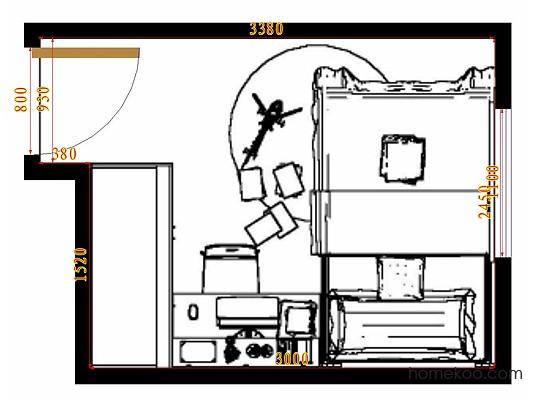 平面布置图柏俪兹系列青少年房B10039