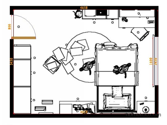 平面布置图柏俪兹系列青少年房B10062