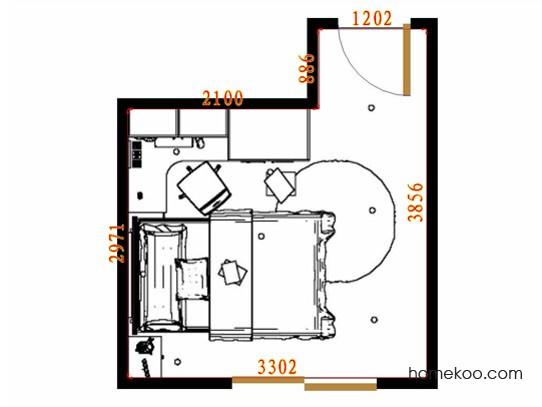 平面布置图贝斯特系列青少年房B10072