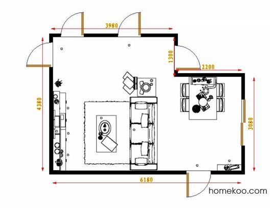 平面布置图柏俪兹系列客餐厅G9028