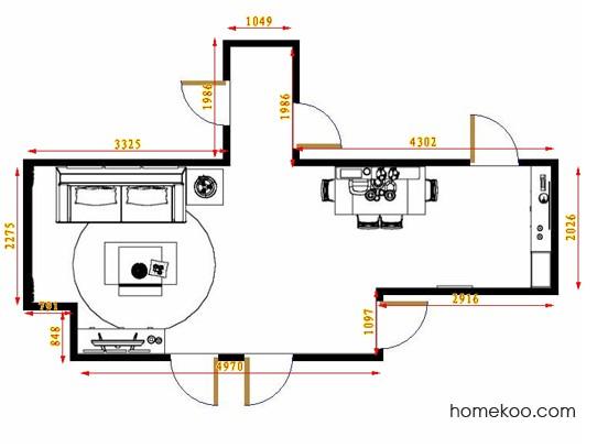 平面布置图乐维斯系列客餐厅G9030