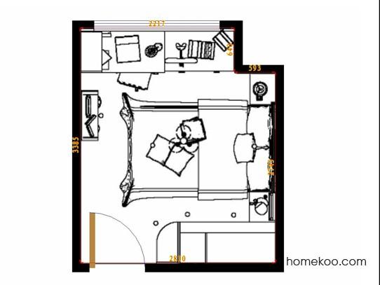 平面布置图格瑞丝系列青少年房B10108