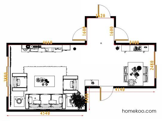 平面布置图乐维斯系列客餐厅G9043