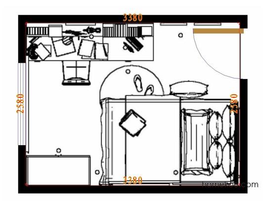 平面布置图斯玛特系列青少年房B10134