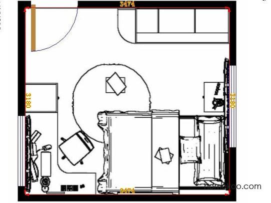 平面布置图德丽卡系列青少年房B10144