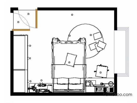 平面布置图斯玛特系列青少年房B10160