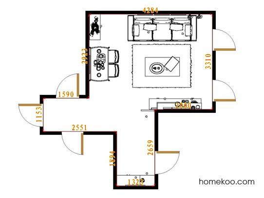 平面布置图德丽卡系列客餐厅G9069